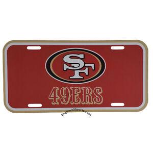 San Francisco 49ers Plastic License Plate