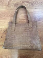 Stylish VIYELLA Taupe Leather WOMENS HANDBAG Snakeskin Style BIRKIN Style BAG