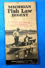 Old 1941 Michigan Fish Law Digest - Michigan Department of Conservation