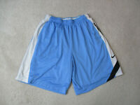Nike Shorts Adult Extra Large Light Blue White Lacrosse Gym Basketball Mens *