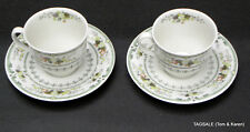 """4 Pieces PROVENCAL by ROYAL DOULTON FINE CHINA ~ 2 3/4"""" CUP & 6"""" SAUCER 2 Sets"""