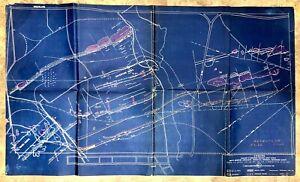 Vintage 1942 Adventure Consolidat Copper Co., Ontonago Co. MI Mining Survey Map