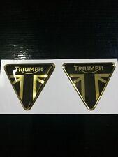 coppia adesivi  triumph oro cromo-nero in resina gel 3D
