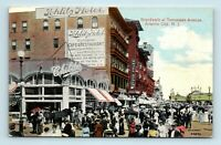 Atlantic City, NJ - BOARDWALK AT TENNESSEE - SCHLITZ HOTEL & CHILDS - POSTCARD