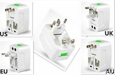 1pk All In One Power Adapter Wall Charger Socket Travel Plug Converter US EU UK