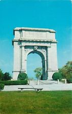 Valley Forge PA~National Memorial Arch~Cement Bench~1955 Postcard