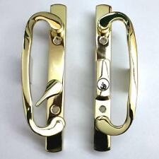 Sliding Glass Patio Door Handle Set Mortise 2265 Brass Plated With Keys