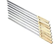 17-Inch Long, Large Stainless Steel Brazilian-Style Bbq Skewers, Kebab Skewers