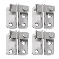 4x Stainless Steel Door Latch Slide Bolt Safety Door Lock with Padlock Hole