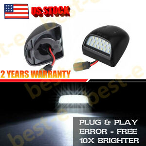 2000-2006 Chevy Tahoe Suburban GMC Yukon XL LED License Plate Light Housing Pair