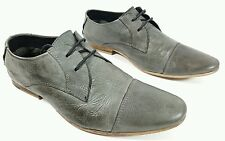 River Island mens grey leather  casual shoes UK 6 Eu 40