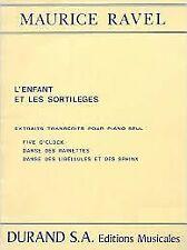 L'Enfant Et Les Sortileges 3 Extraits Piano