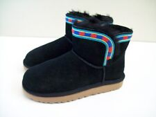 UGG Rosamaria Embroidery Boots in Black Size 5, 36 NEW IN BOX Free Shipping