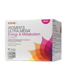 GNC Womens Ultra Mega Energy and Metabolism Daily Multivitamin Vitapak - 30