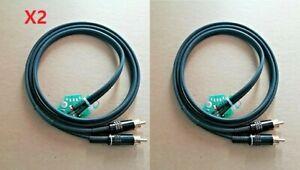 TECHNICS SL 1200 1210 CAVO AUDIO 1,20MT /PCB/CONNETTORI RCA GOLD/GND INTERNA X2