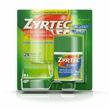 Zyrtec Allergy 24 Hour Relief 70 Tablets 10 mg each. Exp 01/2022 . Free Shipping