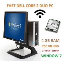 Fast Dell All In One PC Computer 755/760, Core 2 Duo,3.00GHz,4GB,250GB, WiFi,