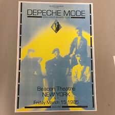 DEPECHE MODE - CONCERT POSTER NEW YORK CITY U.S.A. 15TH MARCH 1985  (A3 SIZE)