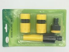 5 PIECE HOSE NOZZLE SET PLUS FITTINGS COMPATIBLE WITH ALL LEADING MAKES