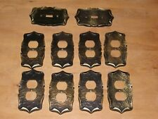 AMEROCK / Carriage House BRASS  LOT OUTLET COVERS (8) SWITCH PLATE COVERS (2)