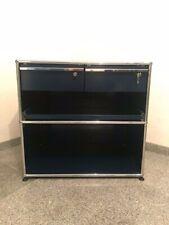 USM Haller Kontainer 1x2 Elemente 75x52x74mm Stahlblau