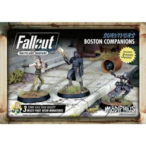 Fallout Wasteland Warfare Miniatures Survivors Boston Companions New & Sealed