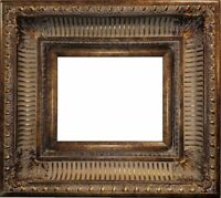 "4.25"" WIDE Dark Gold Ornate Oil Painting Wood Picture Frame 655D"