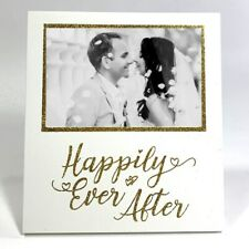 New! HAPPILY EVER AFTER Wedding Photo Frame Engagement Anniversary Keepsake Gift