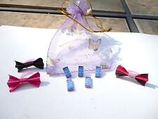 Littlest Pet Shop Accessories 5 Phones 3 Bows in a Gift Bag LPS Lot of 8