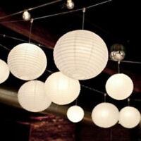 12x white paper lanterns 12 LED lights wedding birthday anniversary party venue