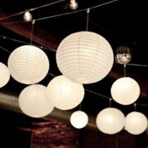 12x white paper lanterns wedding birthday anniversary party hanging venue decor