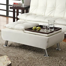 White Ottomans Footstools and PoufseBay