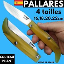 COUTEAU PALLARES PLIANT BERGER REGIONAL  ESPAGNE RIPOLLES CARBONE CHASSE NATURE