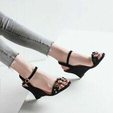 Glitter Wedge Sandals for Women