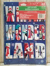 "Christmas Holiday Gift Boxes 14-1/4"" x 9-7/16"" x 1-7/8"" Set Of 3 Boxes - B31"