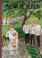 1951 New Yorker Cover only June 23 - Tuxedo Park Cocktail Party - Hokinson