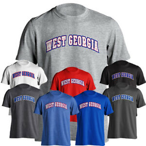 University of West Georgia UWG Wolves Arch Text Tee Short Sleeve T-Shirt