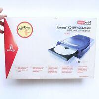 IOMEGA CD-RW 40X12X48X USB 2.0 EXTERNAL DRIVE