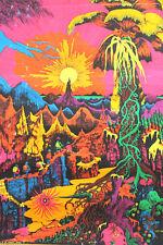1971 EA Mattila HIP Products Chicago Lost Horizons Blacklight Poster Cool Man!