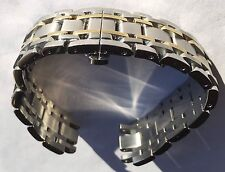 NEW CITIZEN MENS 20MM WATCH BAND SILVER GOLD TWO TONE AT1004-59L