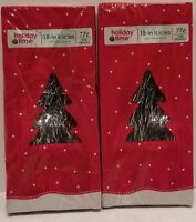 """New 2PK  Holiday Time Christmas Tree Tinsel Icicles,1000 Strands,18""""long, Silver"""