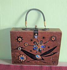 Vintage 1966 Enid Collins Road Runner Box Bag Purse FAIR Collins of Texas