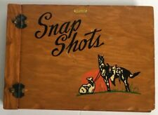 Vintage Snap Shots Wooden Photo Album Cowboy Horses Sunset 1000 Islands Hinges