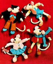 Vintage Toy Mouse Knitting Pattern. 4 Cute Little Mice. Use oddments to make.