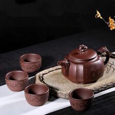 Full handmade tea pot + tea cups real yixing zisha authentic original ore fired