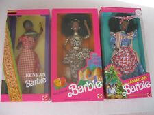 Barbie Dolls of the World Nigerian, Kenyan, Jamaican African American Lot of 3