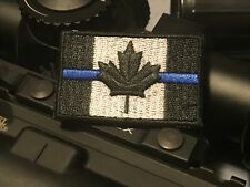 Canada Tactical Morale Patch - Thin Blue Line - Hook & Loop - Army / Police