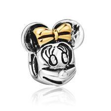 Silver Cute Cartoon Minnie Bead Fashion Diy Girl Charm Fit 925 Sterling Bracelet
