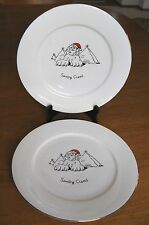 Merry Masterpieces Sandy Claws Pyramids Christmas Dinner 2 Plates Dayton Hudson