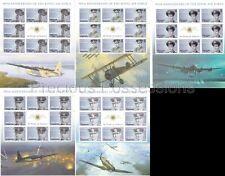 SOLOMON ISLANDS MNH SHEETS 2008 RAF 90TH ANNIV SG 1232-1236